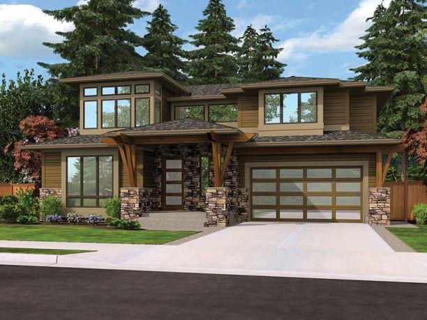 Plano de casa grande lujosa y moderna for Casas modernas y grandes