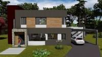 fachada casa 1 plano de casa grande 2 pisos