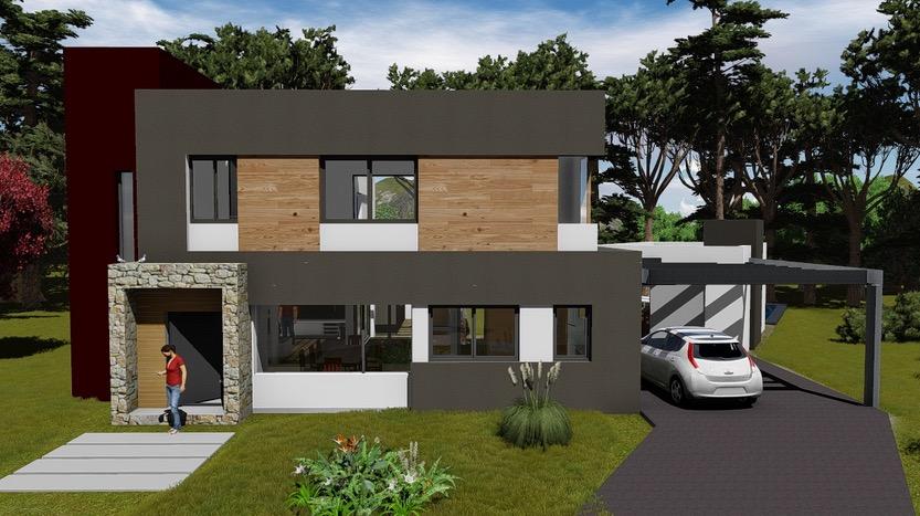 Plano de casa de 168 4 m2 de 3 dormitorios y 3 ba os for Planos de casas minimalistas de 2 pisos