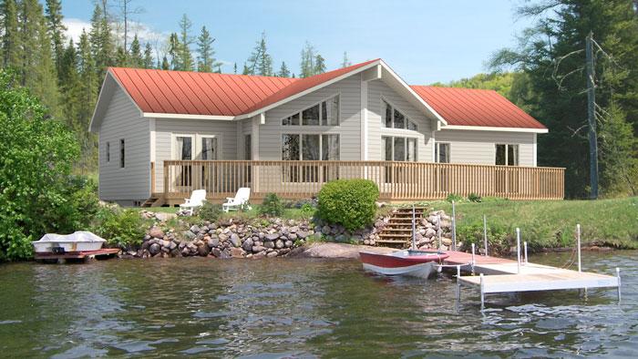 Hermoso plano de casa de campo de 132 7m2 y 3 dormitorios - Ideas para construir casas campo ...