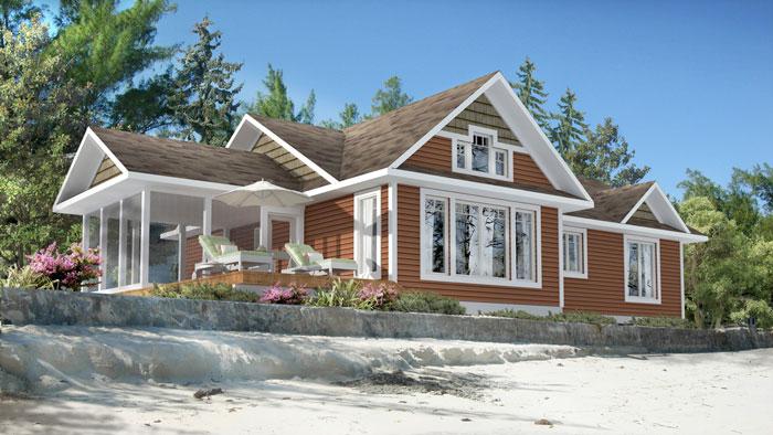 Planos de casa de campo de 120 m2 con 3 dormitorios for Disenos de casas 120 m2