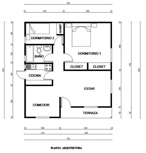 Medidas de una sala de estar arquitectura for Medidas de muebles para planos