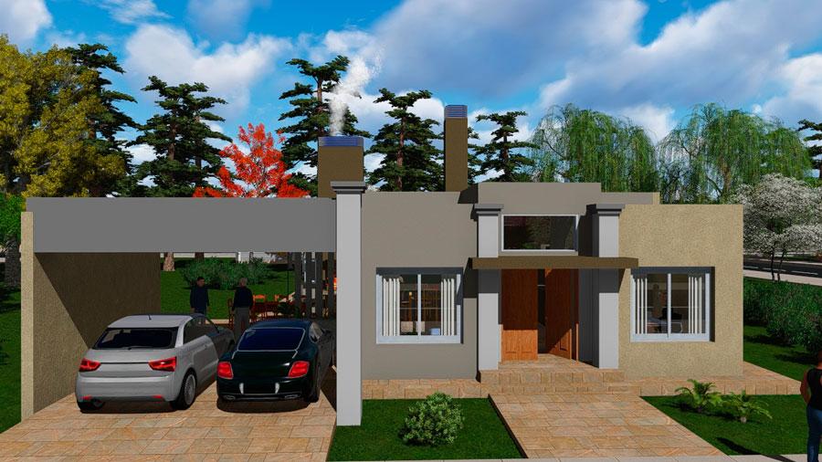 plano de casa de 150 m2 con 3 dormitorios y 2 ba os