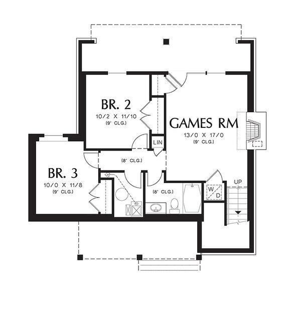 plano segundo piso de cabana confortable