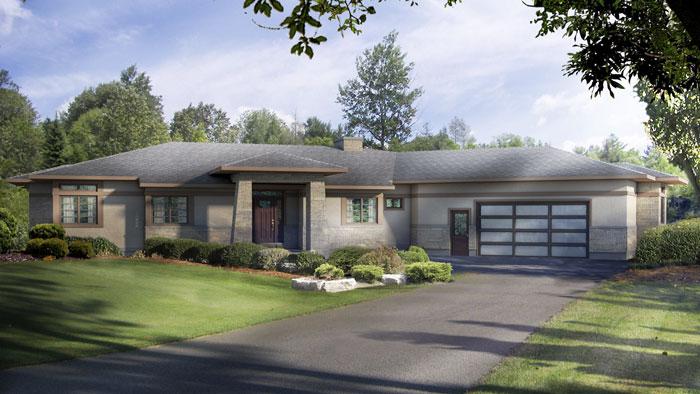 Plano de casa grande de 257m2 con 3 dormitorios for Casa moderna de un piso grande