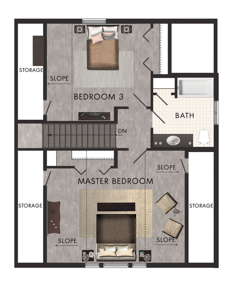 Plano de casa de campo con 167 5m2 y 2 pisos for Planos de casas de campo de un piso