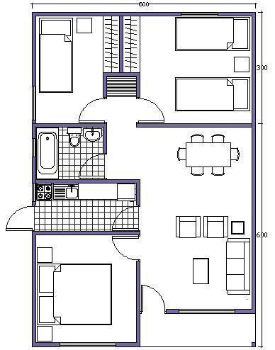 7 planos de casas prefabricadas econ micas y con medidas for Planos arquitectonicos de casas