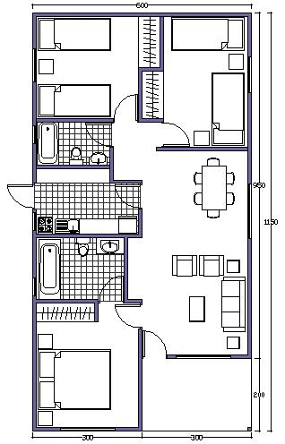 7 planos de casas prefabricadas econ micas y con medidas for Planos para aser una casa
