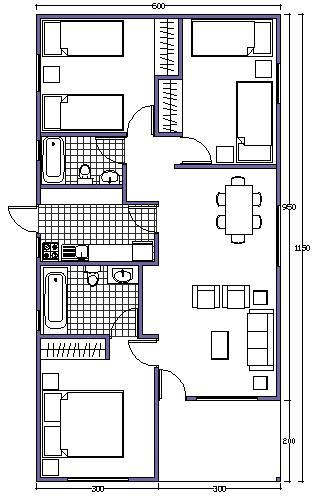 planos de casas 9 x 6