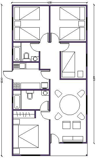7 planos de casas prefabricadas econ micas y con medidas for Planos de casas medianas