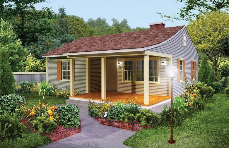 fachada plano de casa dos dormitorios