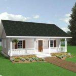 fachada plano de casa simple y acogedora