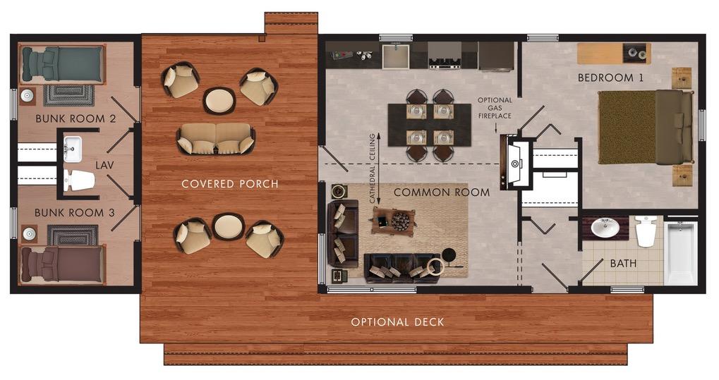 plano de cabaña plano de vivienda campo