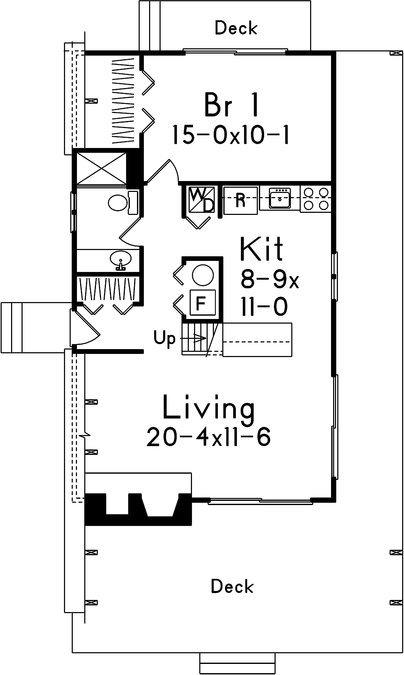 plano de casa de 2 pisos con forma particular