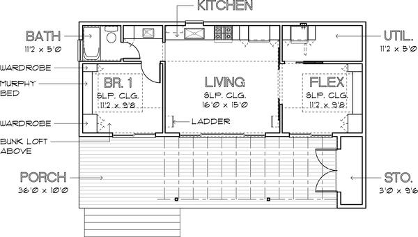 planta plano de casa simple