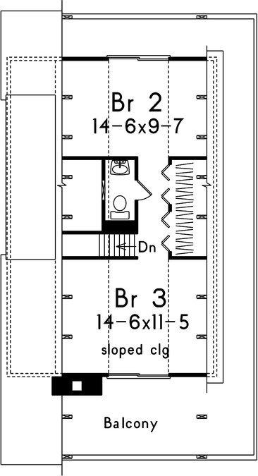 segundo piso plano de casa de 2 pisos grande