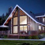 fachada plano de cabana