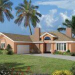 plano de casa con garaje de 180 m2