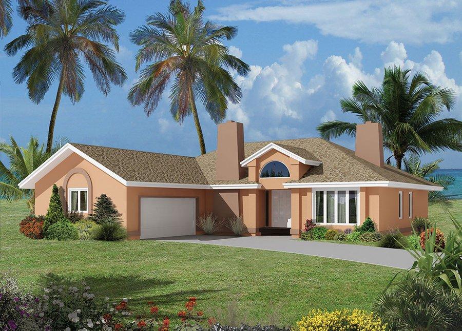 Plano de casa con garaje opcional de 3 dormitorios y 178 m2 for Casas en garajes
