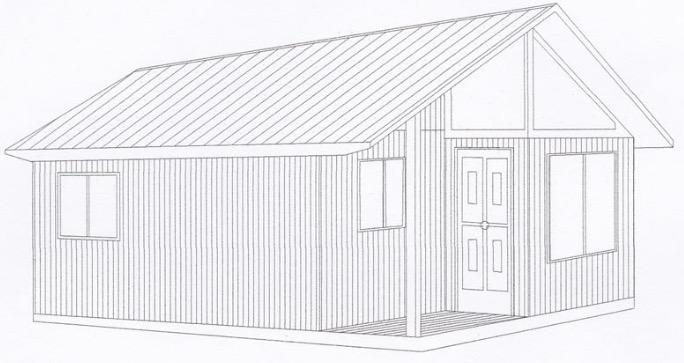 fachada de plano de casa económico