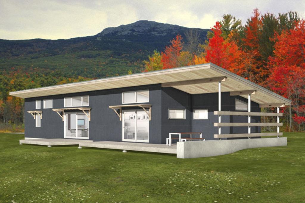 Plano De Casa Angosta Con 3 Dormitorios Y 2 Pisos 126m2