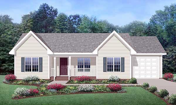 Plano de casa con garaje de 1 piso y 3 dormitorios 106m2 for Fachadas de garajes