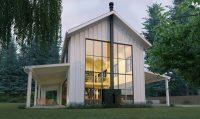 fachada plano de casa grande para sitio angosto