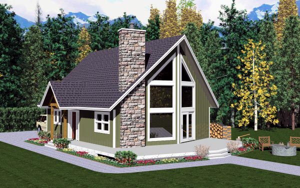 plano de casa de campo grande de 2 pisos y 2 dormitorios