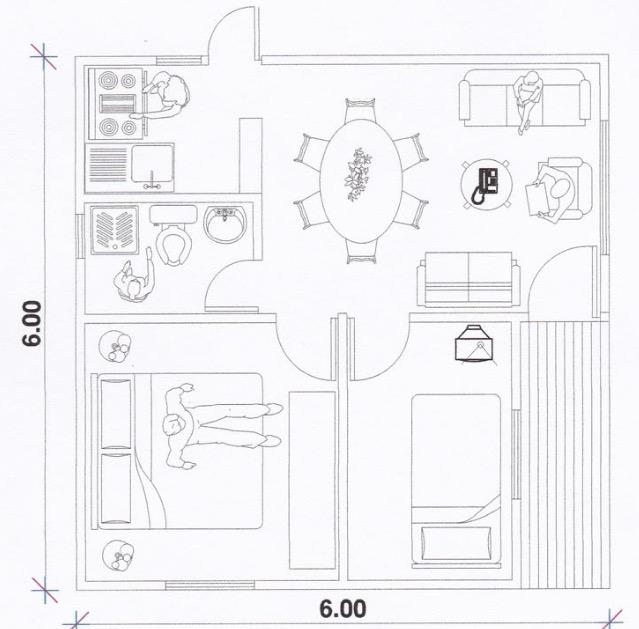 plano de casa económica