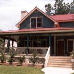 vista frontal plano de casa con bonita fachada