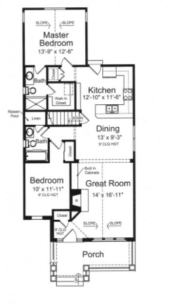 plano de casa grande para sitio angosto