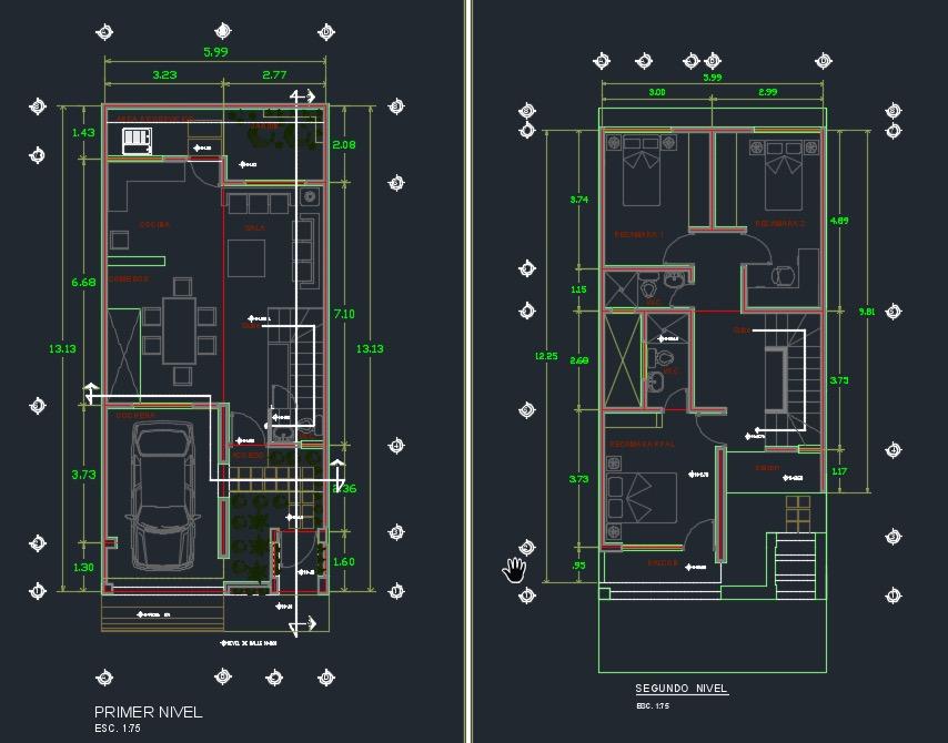 plano primer piso y segundo