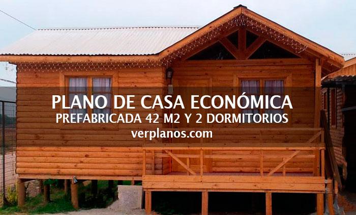 Planos de casa econ mica de 42m2 y 2 dormitorios - Planos de casas prefabricadas economicas ...