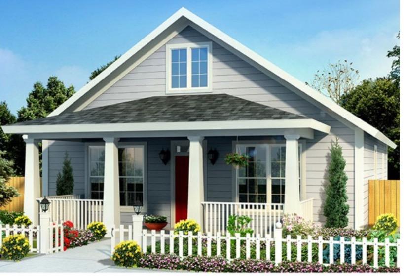 Plano De Hermosa Casa De 3 Dormitorios Y 120 M2