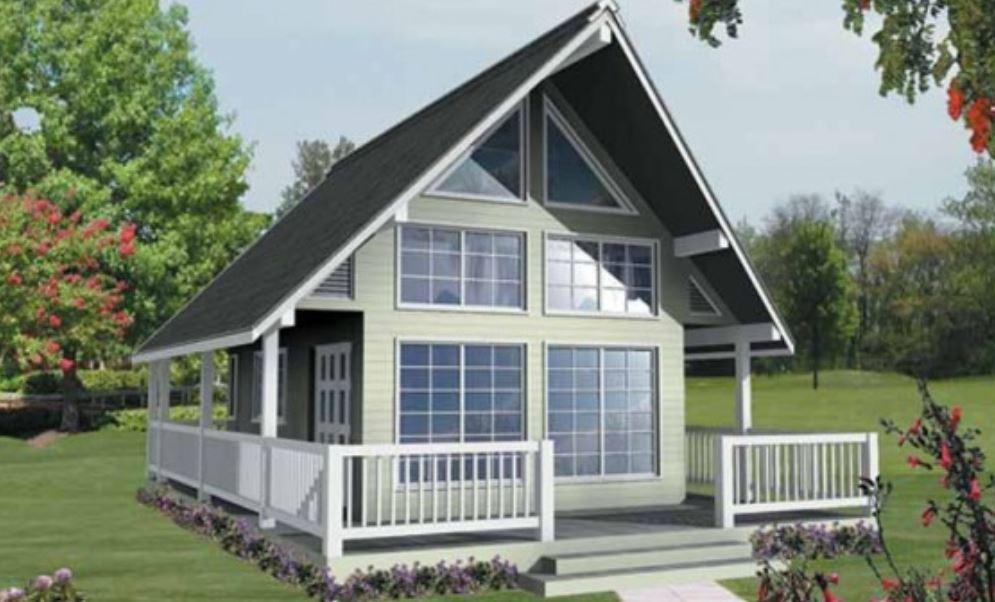 Plano de casa de 54m2 de 1 dormitorio y 2 pisos for Casa clasica procrear 1 dormitorio
