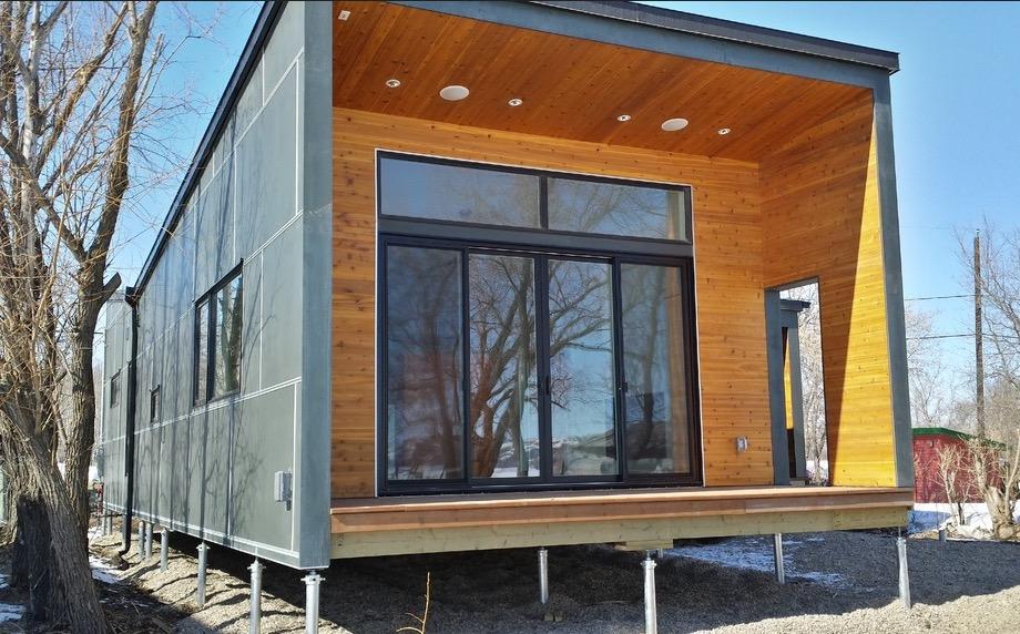 Plano de casa moderna de 1 piso y 3 dormitorios con 98m2 for Casa moderna 1 11 2