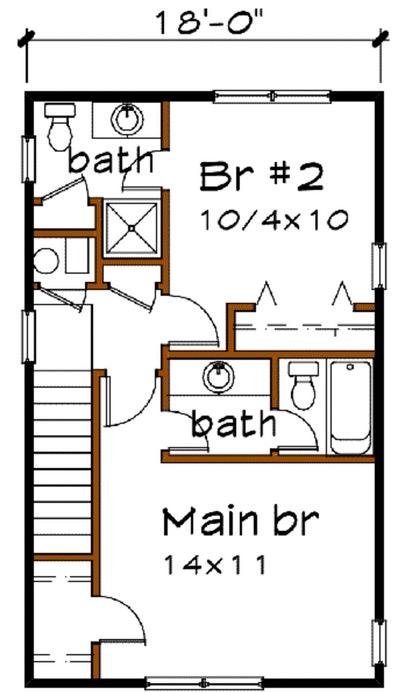 Plano de caba a de 96m2 y 2 pisos - Vivir en un segundo piso ...