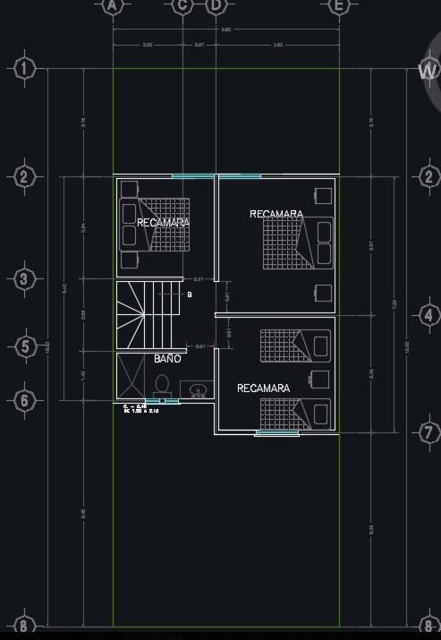 Descargar plano de casa de 2 pisos 3 dormitorios y 90m2 Planos de segundo piso