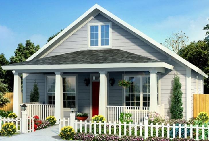 plano de casa de m con una fachada muy atractiva