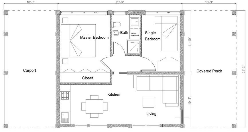 planos de casas 50m2