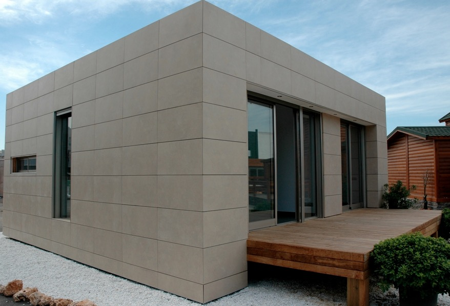 Plano de casa moderna de 75m2 con 2 dormitorios for Casa moderna 150 m2