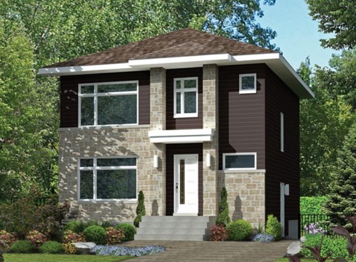 Plano de casa de 2 pisos con 3 dormitorios muy grandes for Planos de pisos de 3 dormitorios