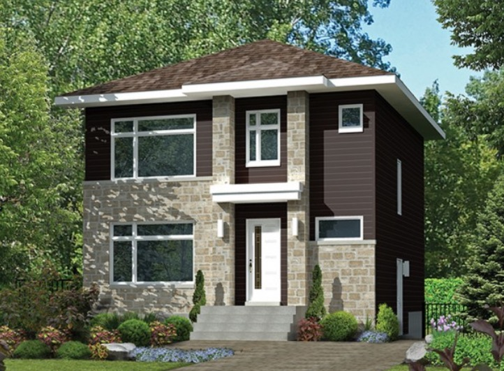 Plano de casa de 2 pisos con 3 dormitorios muy grandes for Modelos de fachadas para casas de 2 pisos