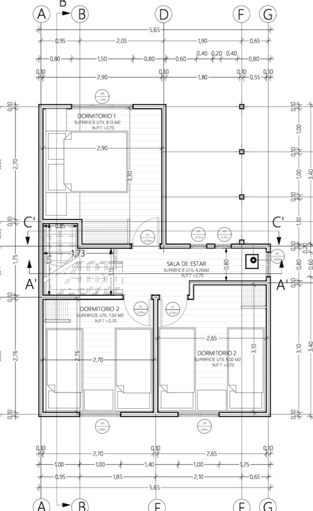 Descargar plano de casa social 70m2 y 2 pisos - Vivir en un segundo piso ...