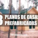 tres planos de casas prefabricadas con medidas