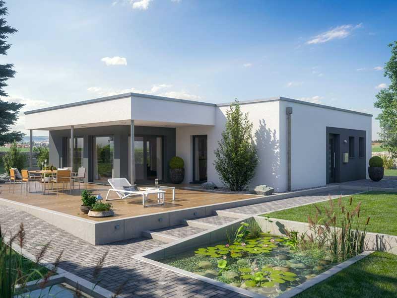 Planos de casa moderna de 1 piso con medidas 2 dormitorios for Casa moderno kl
