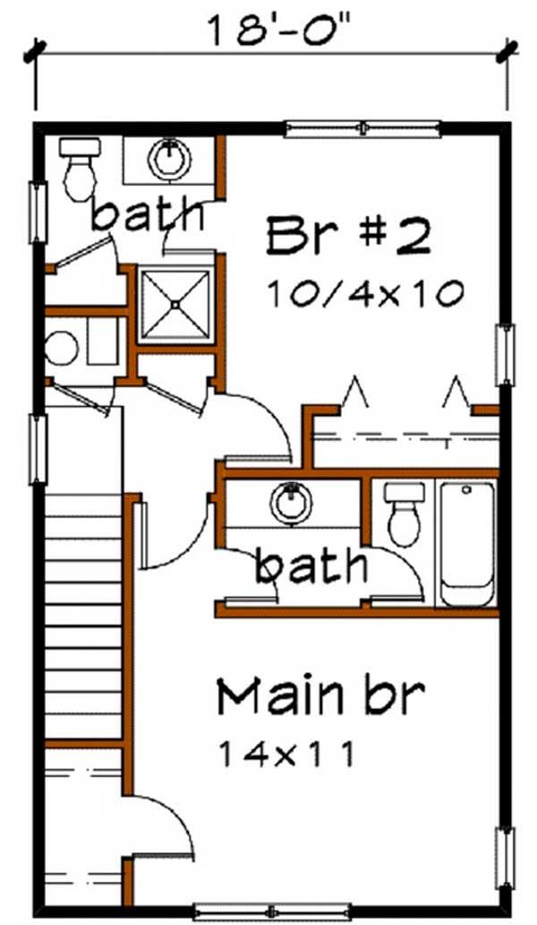 Segundo piso plano casa 2 pisos