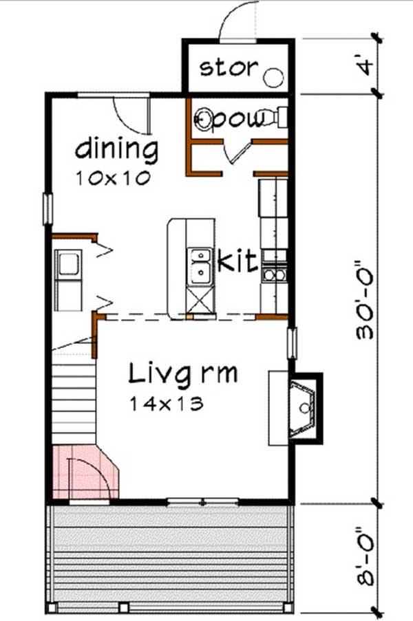 planos de casa de 2 pisos primer nivel