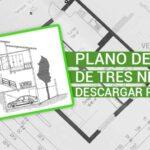 Descargar plano de casa de tres pisos en formato PDF