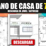Plano de casa para descargar de 7x7 metros